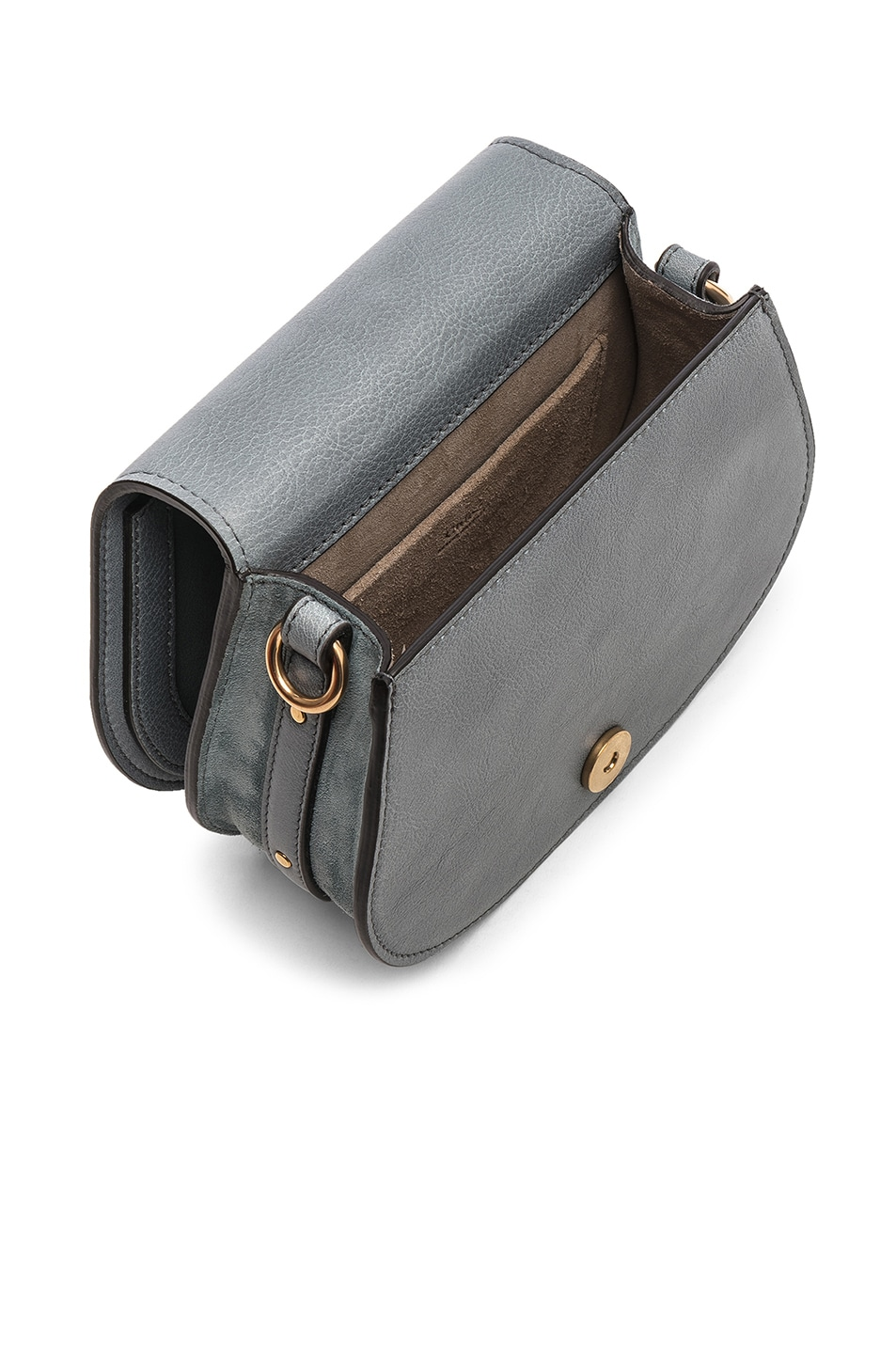 Image 5 of Chloe Small Nile Bracelet Bag Calfskin & Suede in Cloudy Blue