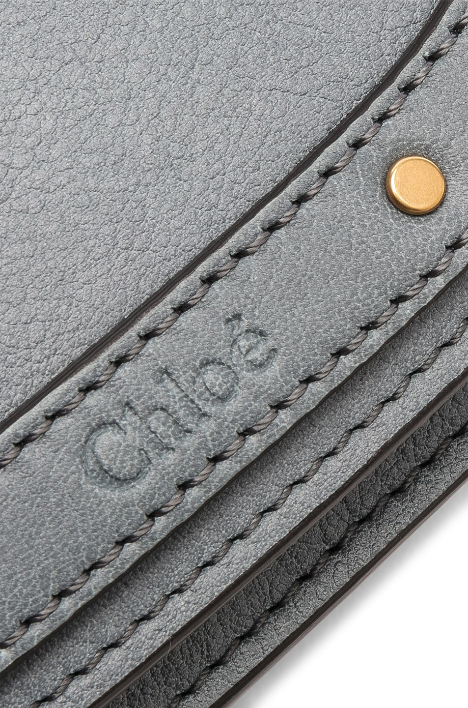 Image 7 of Chloe Small Nile Bracelet Bag Calfskin & Suede in Cloudy Blue