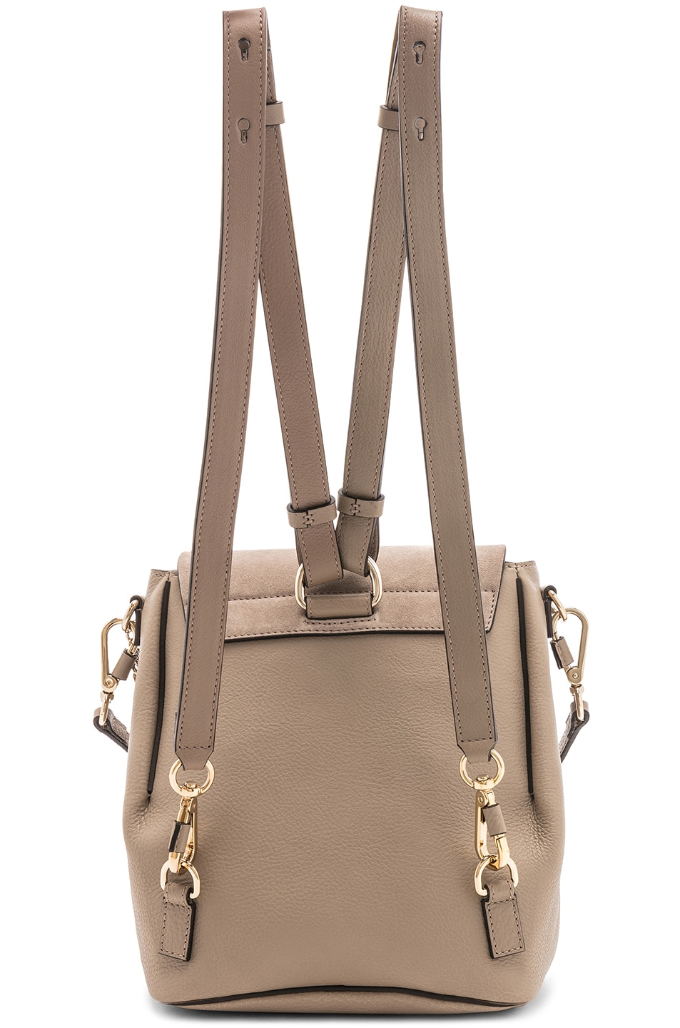 Image 3 of Chloe Small Faye Calfskin & Suede Backpack in Motty Grey