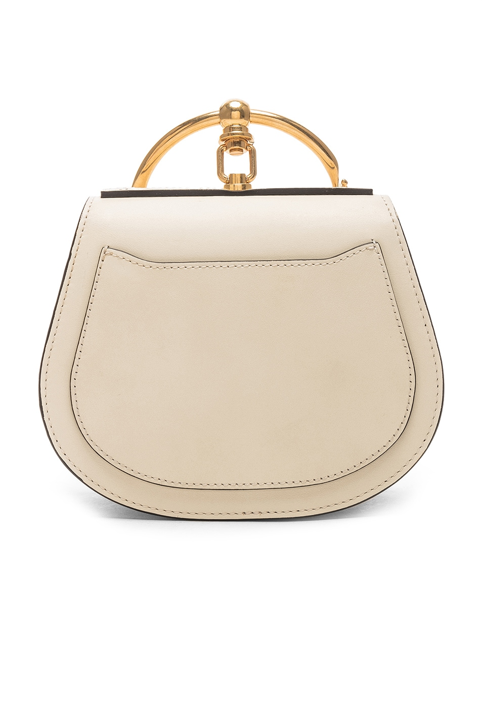 Image 3 of Chloe Small Nile Calfskin & Suede Bracelet Bag in Off White