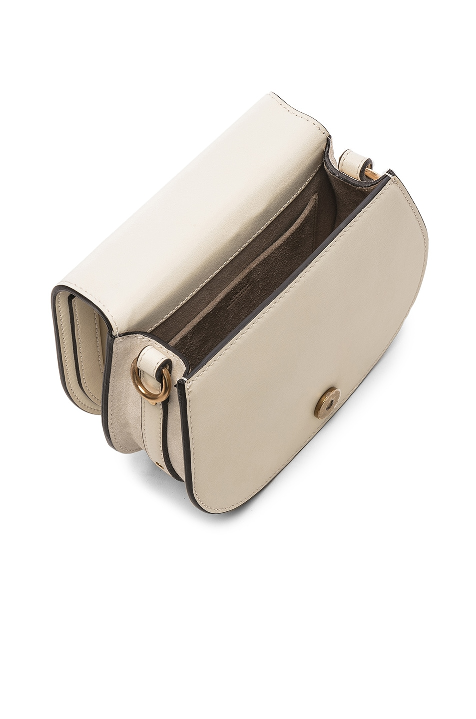 Image 5 of Chloe Small Nile Calfskin & Suede Bracelet Bag in Off White