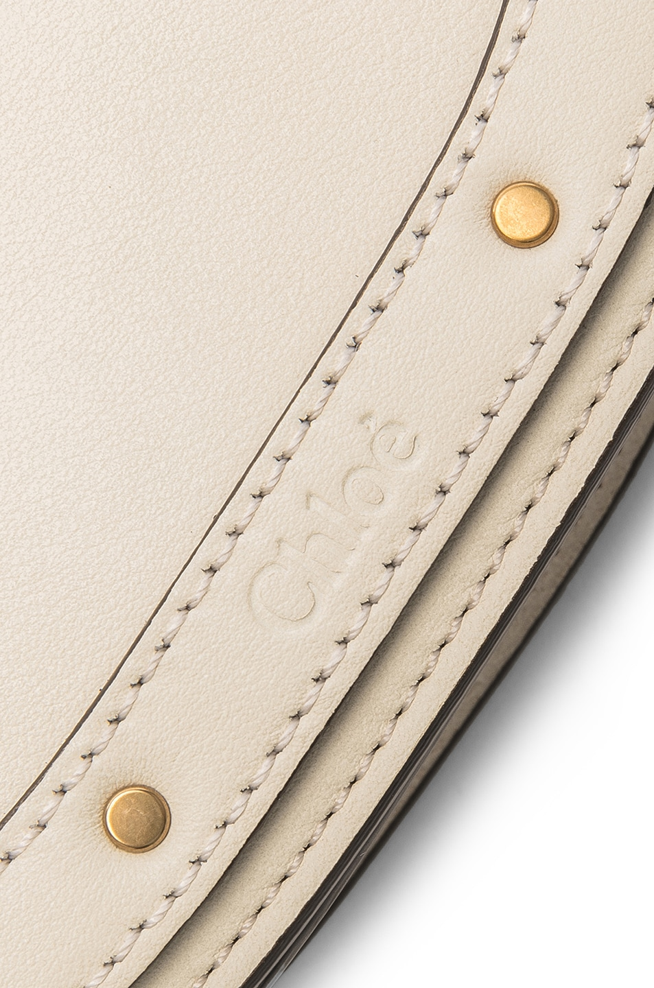 Image 7 of Chloe Small Nile Bracelet Bag Calfskin & Suede in Off White