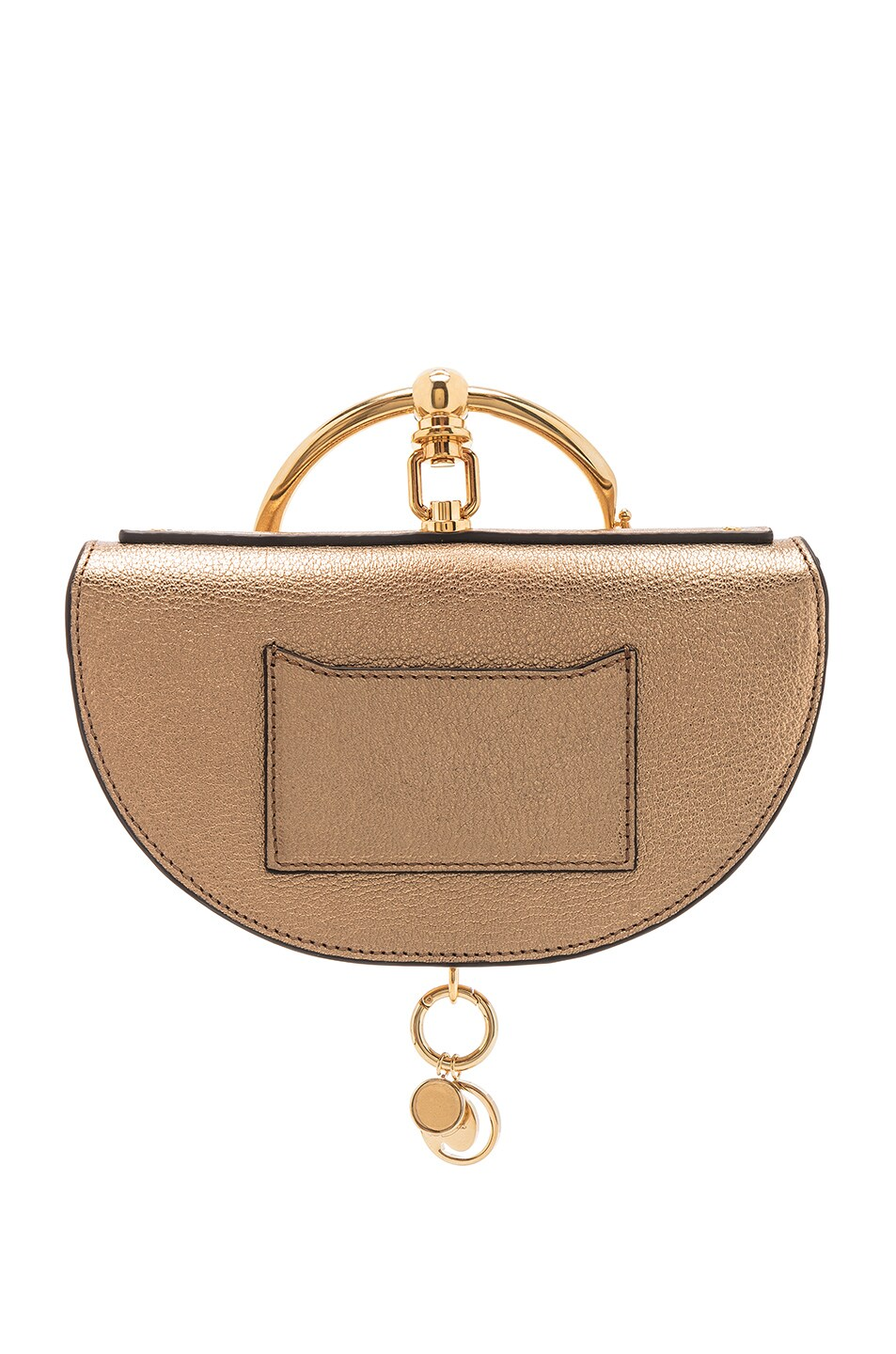 Image 3 of Chloe Small Nile Leather Metallic Minaudiere in Gold