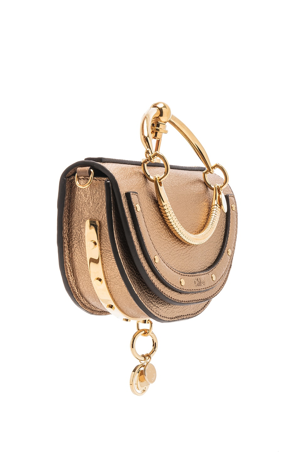 Image 4 of Chloe Small Nile Leather Metallic Minaudiere in Gold