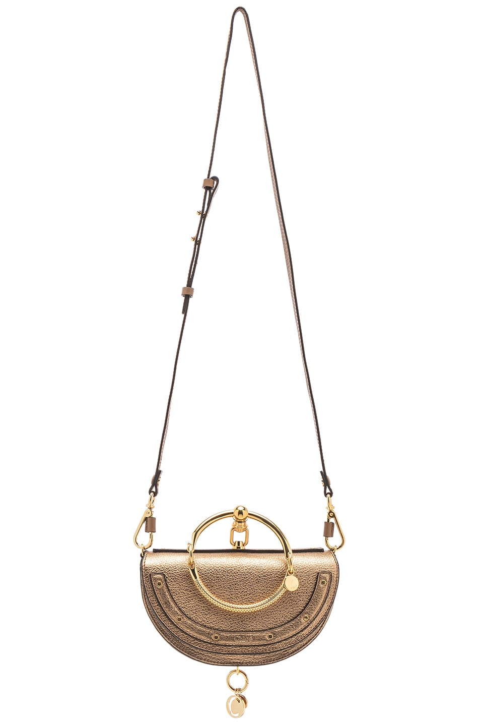 Image 6 of Chloe Small Nile Leather Metallic Minaudiere in Gold