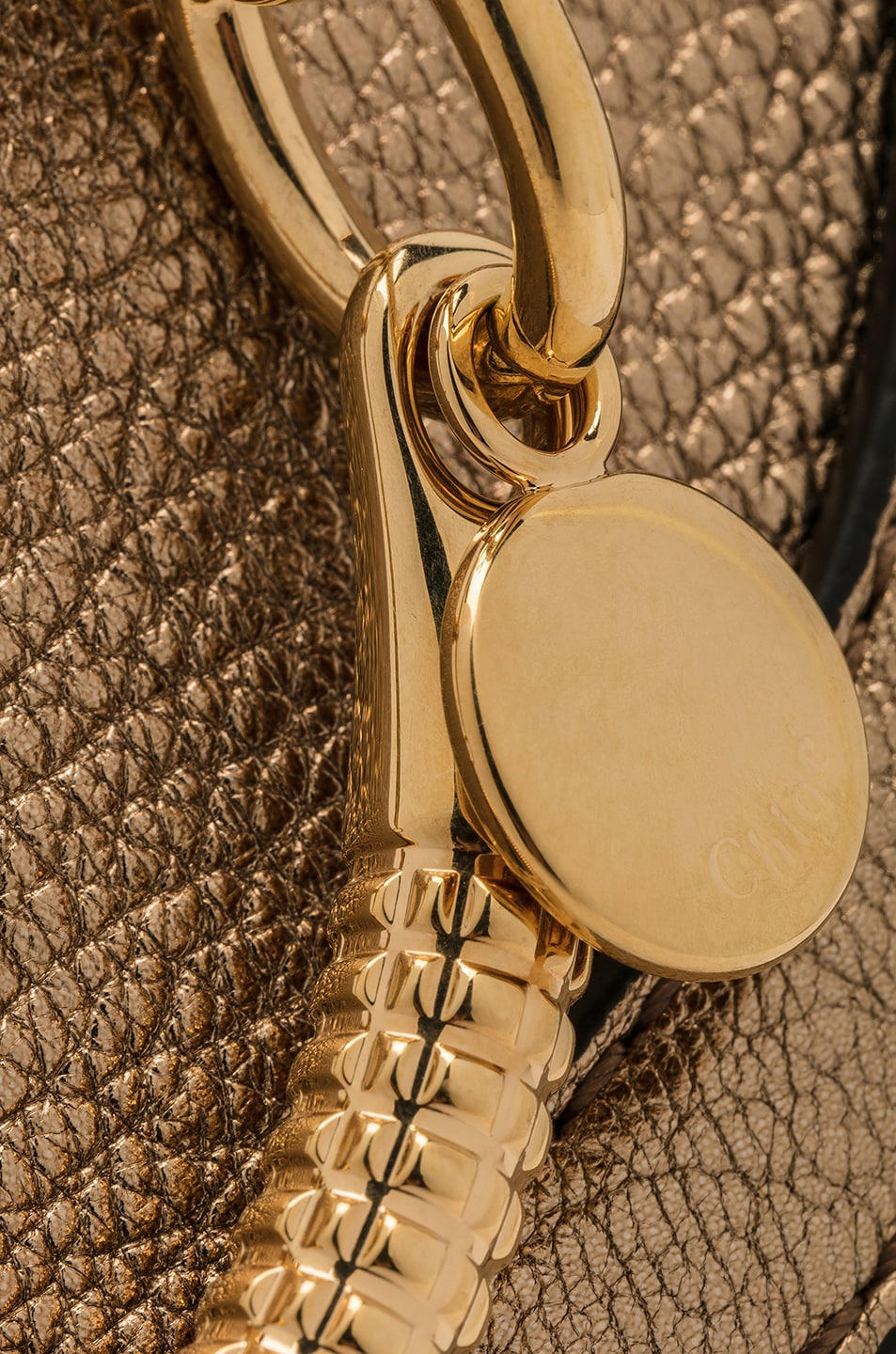 Image 8 of Chloe Small Nile Leather Metallic Minaudiere in Gold