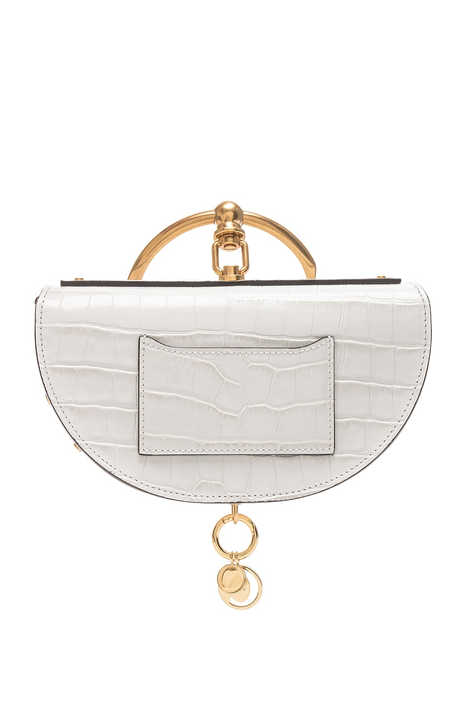 Image 3 of Chloe Small Nile Embossed Minaudiere in Brilliant White