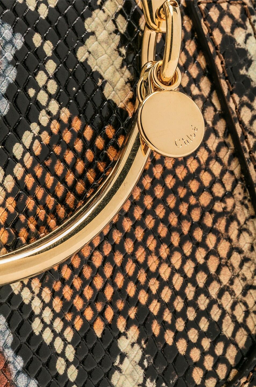 Image 8 of Chloe Nile Small Python Print Bracelet Bag in Caramel