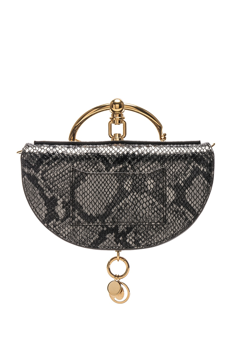 Image 3 of Chloe Small Nile Leather Python Print Minaudiere in Profound Brown