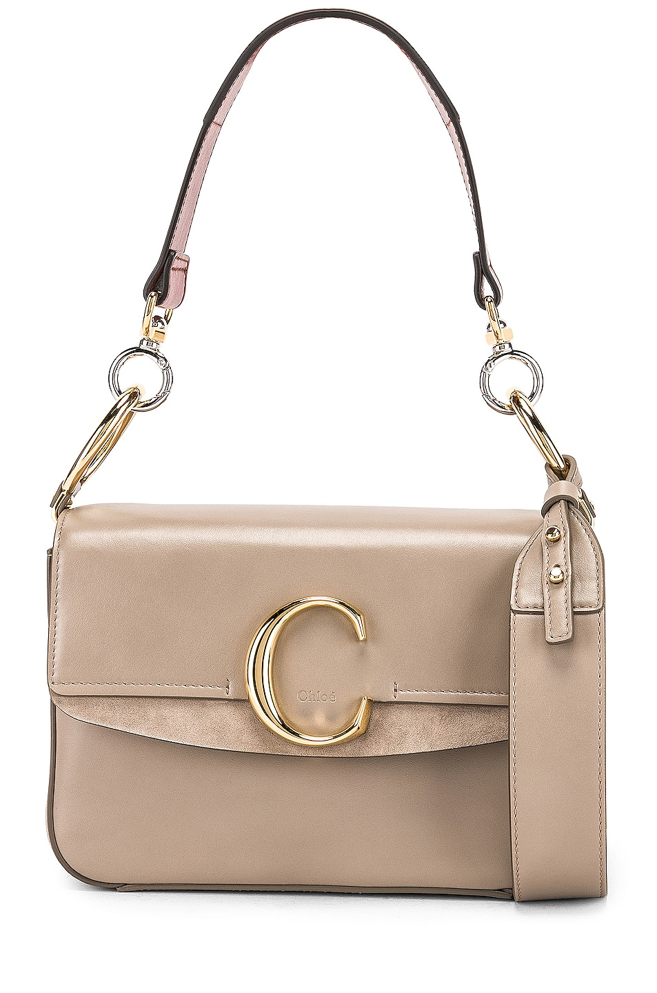 Image 1 of Chloe Small Chloe C Double Carry Bag in Motty Grey