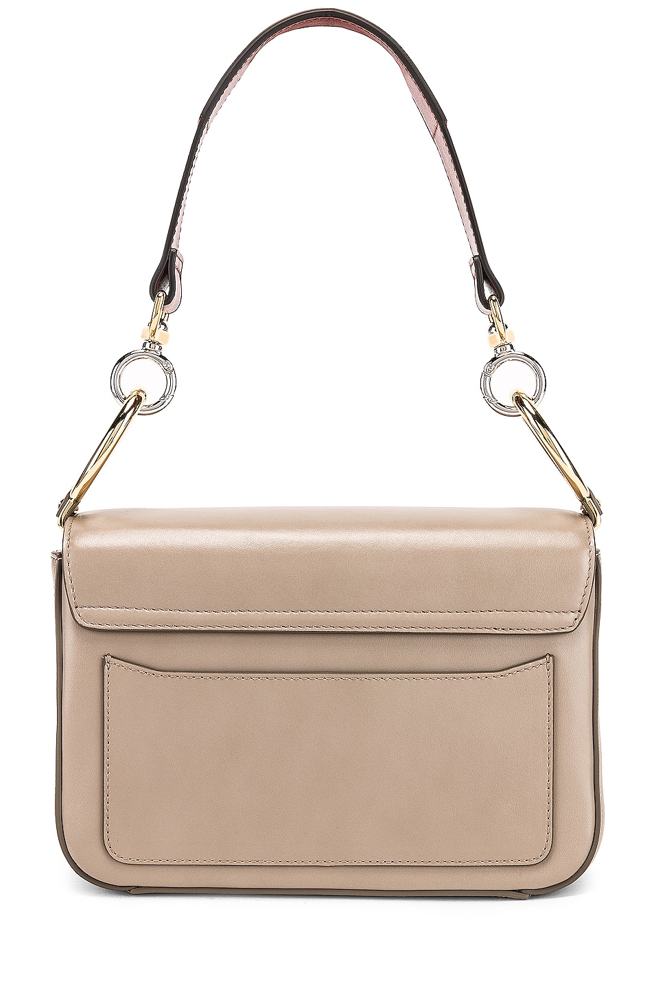 Image 3 of Chloe Chloe C Small Suede-Trimmed Leather Shoulder Bag in Motty Grey