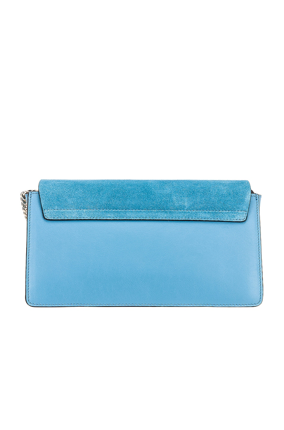 Image 3 of Chloe Small Faye Suede & Calfskin Shoulder Bag in Tomboy Blue