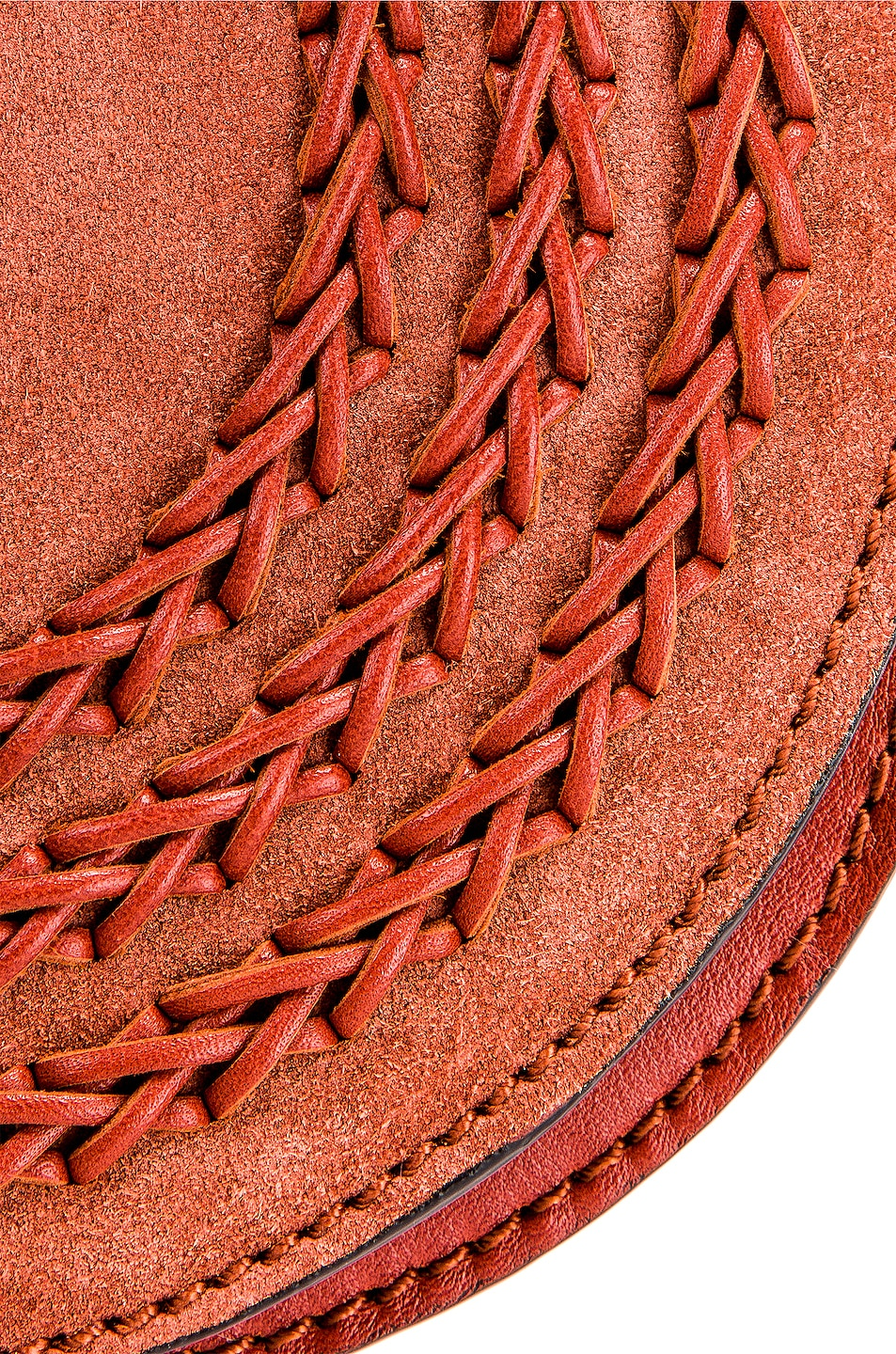 Image 8 of Chloe Small Leather Braid Marcie Satchel in Terracotta Red