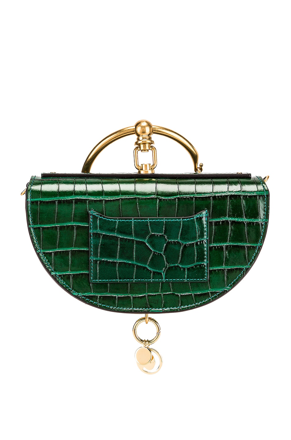 Image 3 of Chloe Small Nile Embossed Minaudiere in Woodsy Green