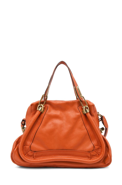 Image 1 of Chloe Paraty Medium Handbag with Strap in Paprika