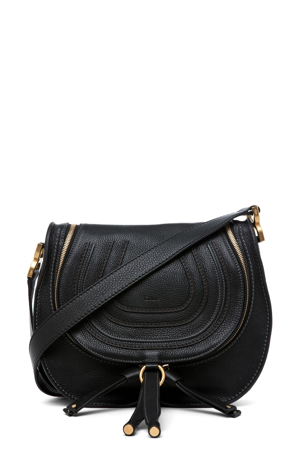 Image 1 of Chloe Marcie Crossbody in Black