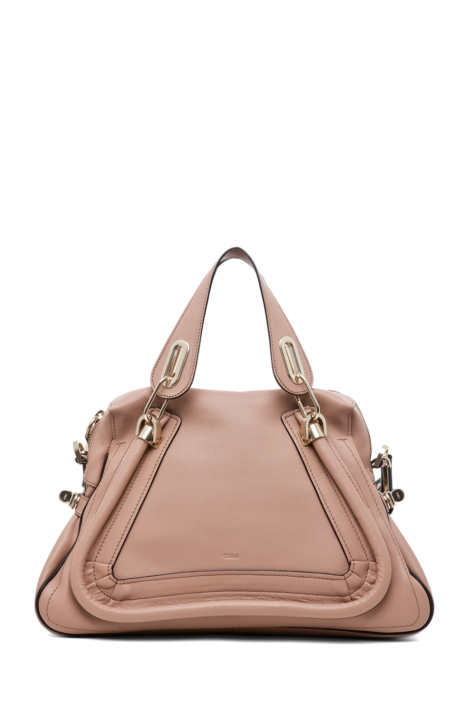 Image 1 of Chloe Paraty Military Medium Shoulder Bag in Tamris Pink