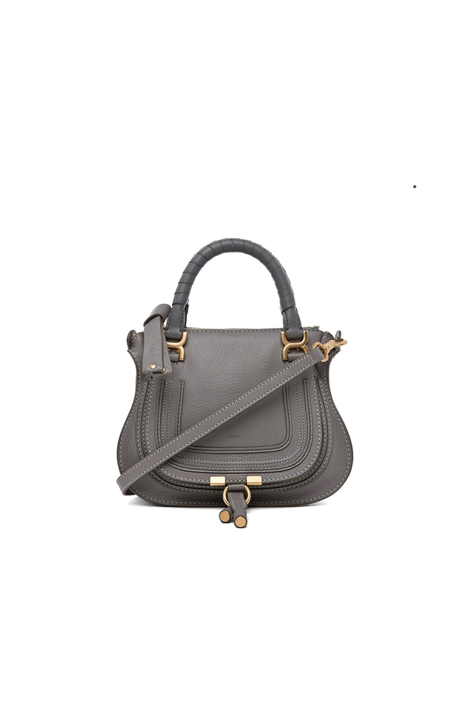 Image 1 of Chloe Mini Marcie Bag in Cashmere Grey