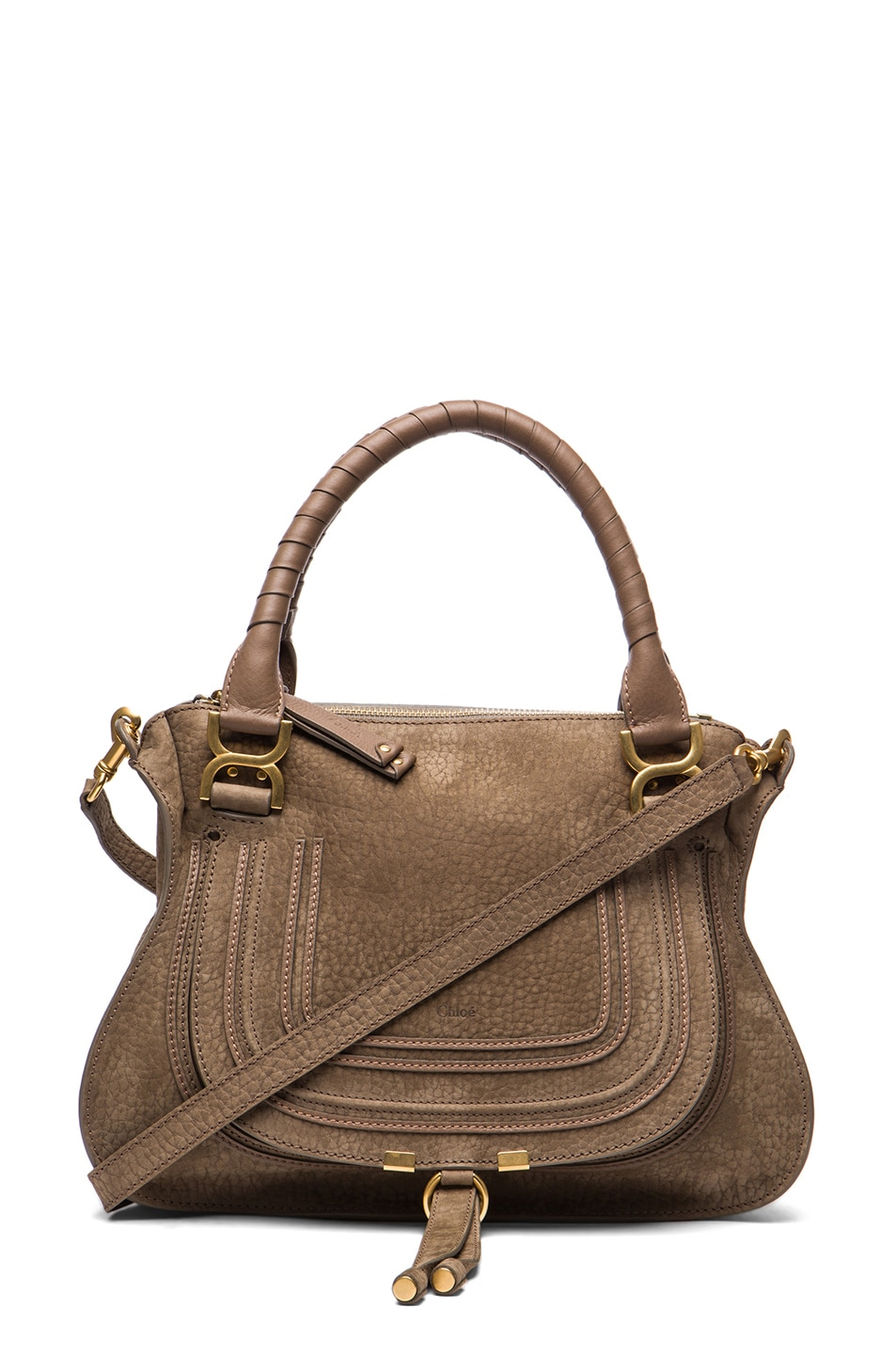 Image 1 of Chloe Medium Marcie Shoulder Bag in Moss Touch