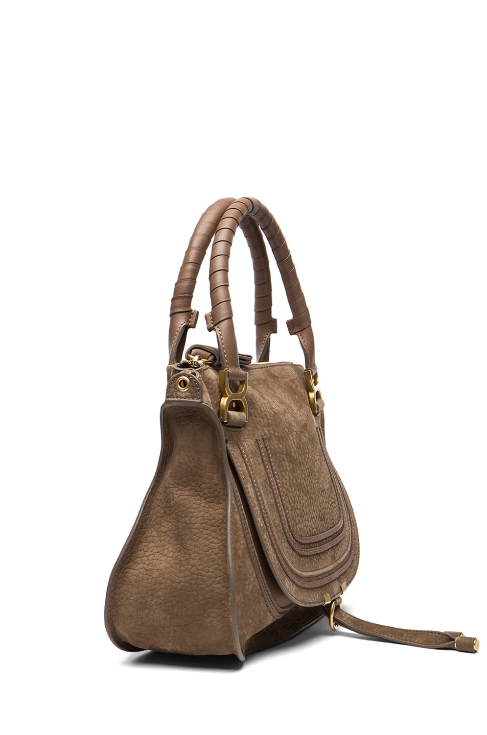 Image 3 of Chloe Medium Marcie Shoulder Bag in Moss Touch