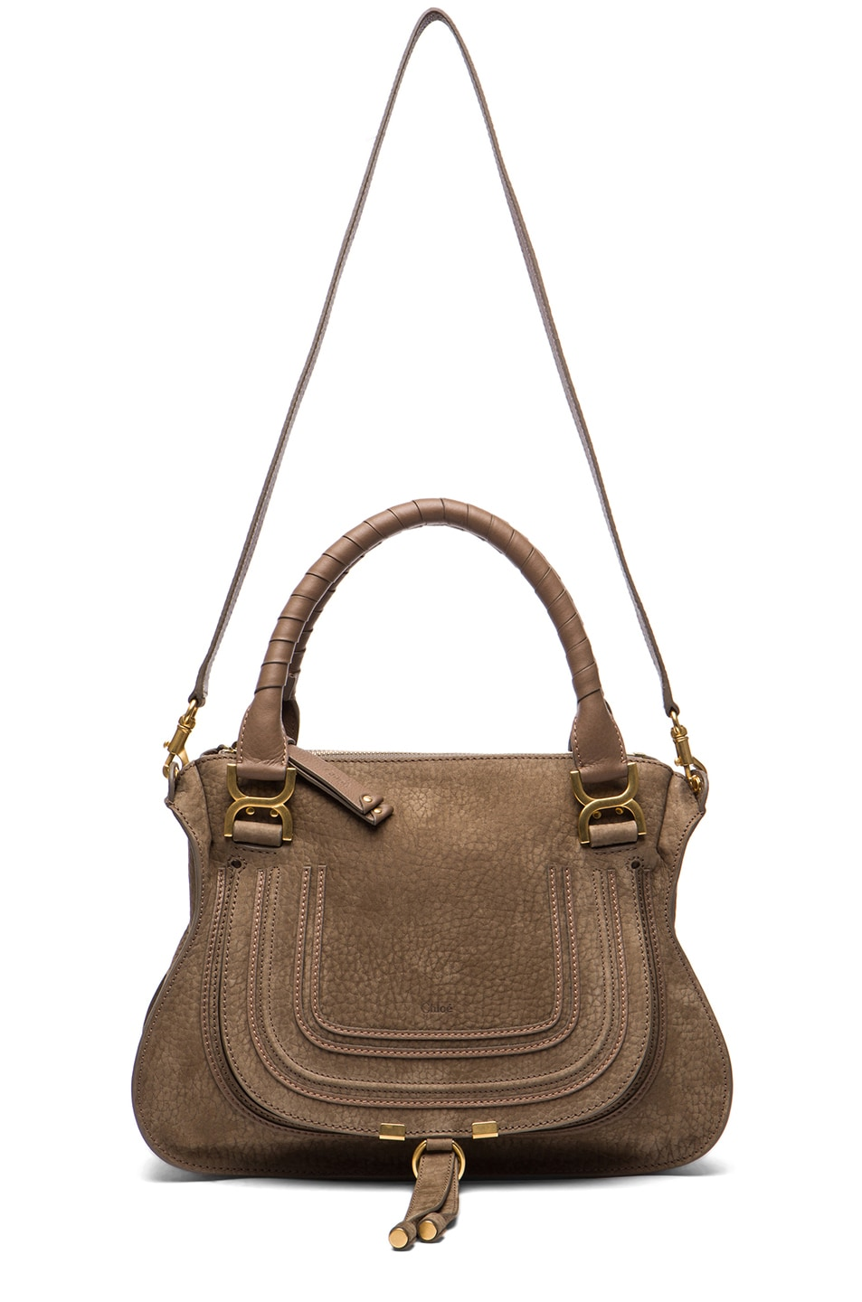 Image 5 of Chloe Medium Marcie Shoulder Bag in Moss Touch