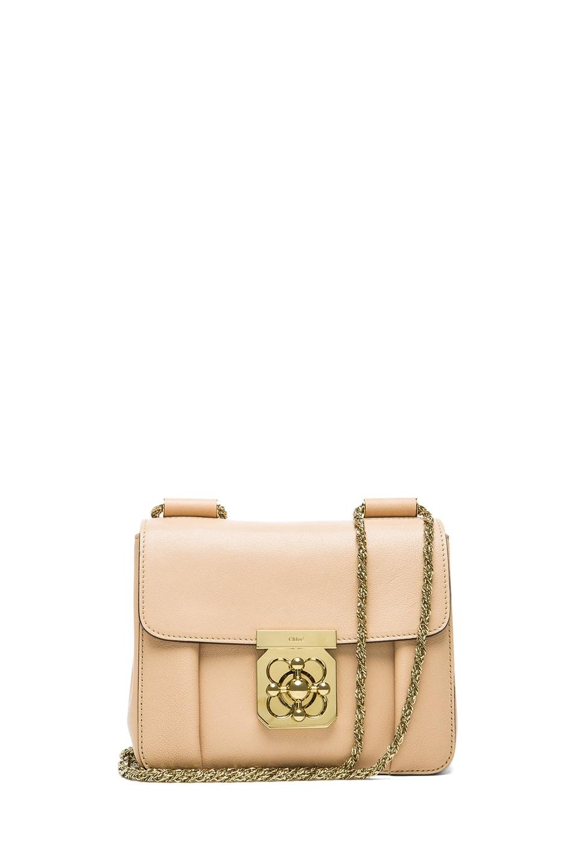 Image 1 of Chloe Small Elsie Shoulder Bag in Biscottie Beige