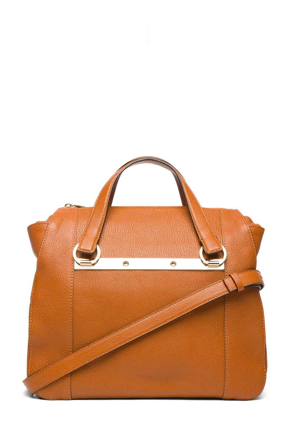 Image 1 of Chloe Small Bridget Shoulder Bag with Strap in Brown Fox
