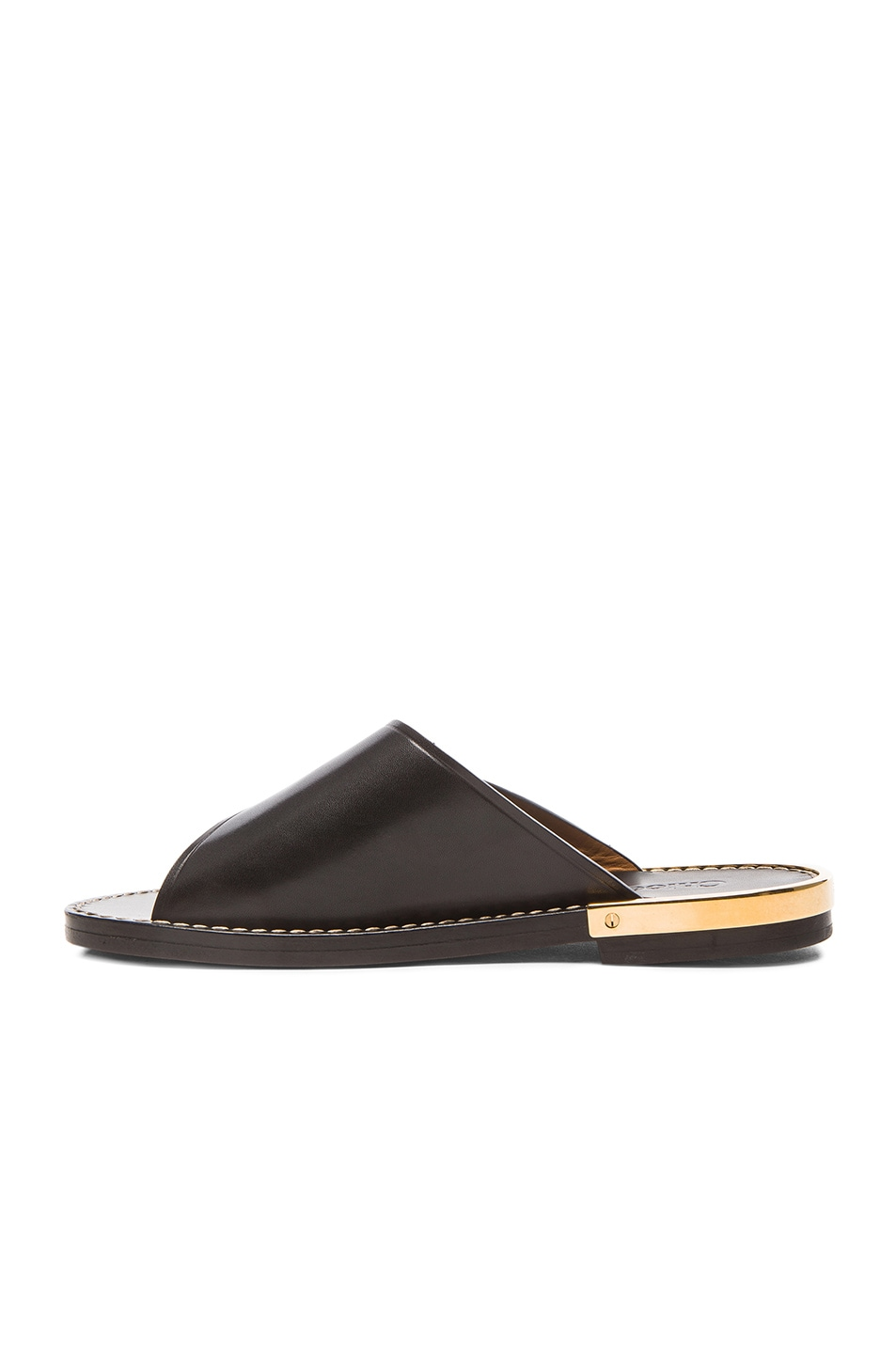 Image 5 of Chloe Leather Buckle Sandals in Black