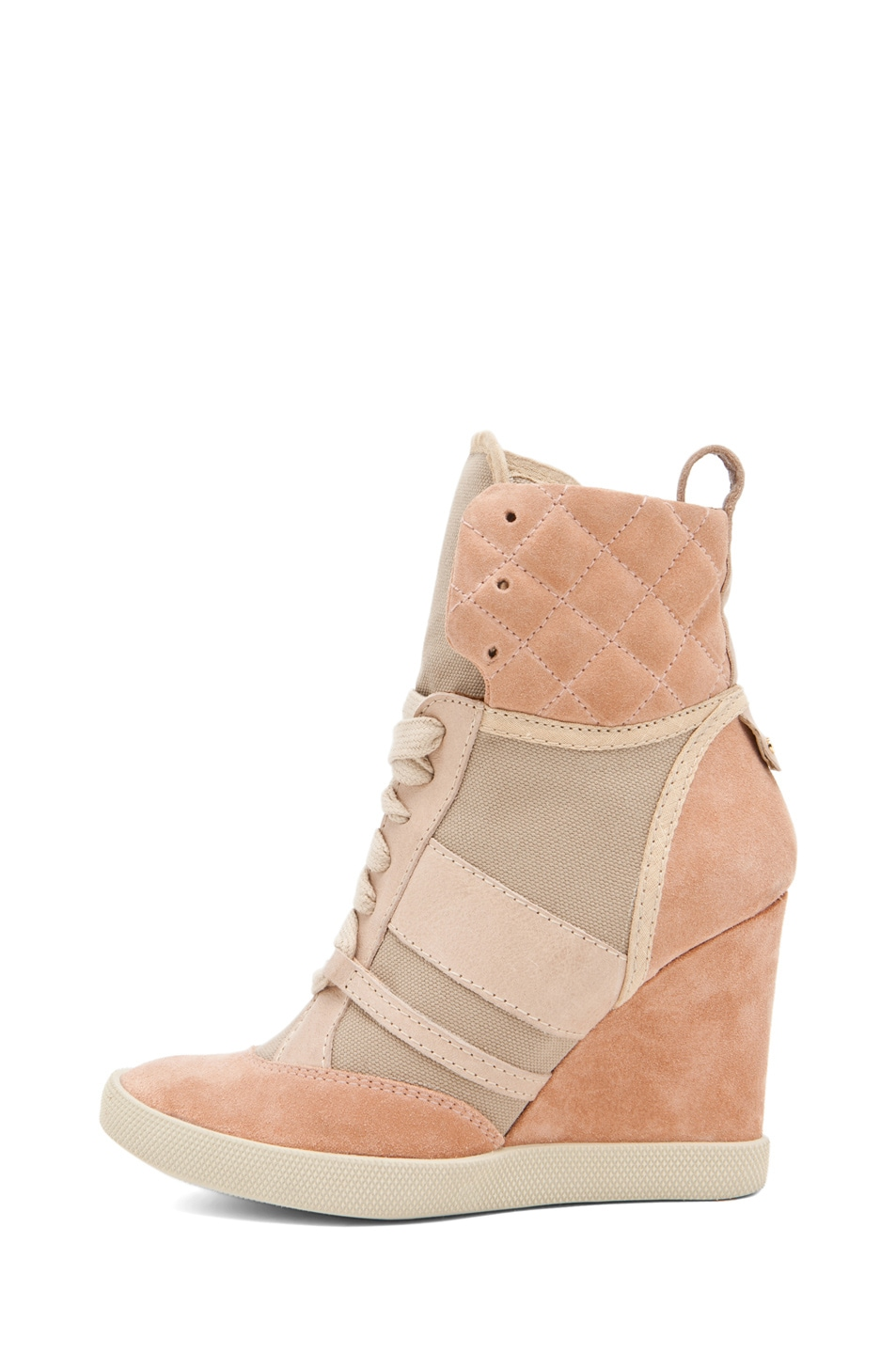Image 1 of Chloe Wedge Sneaker in Camel
