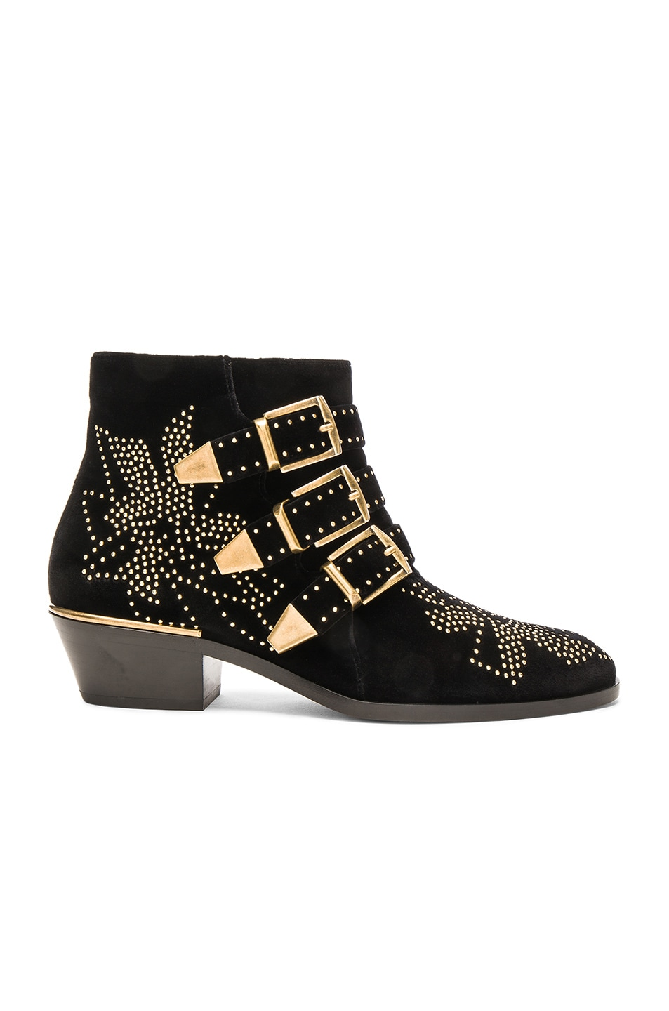 Image 1 of Chloe Velvet Susanna Booties in Black