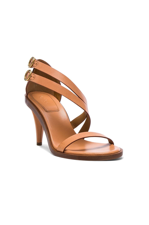 Image 2 of Chloe Leather Niko Sandals in Misty Beige dad75917931