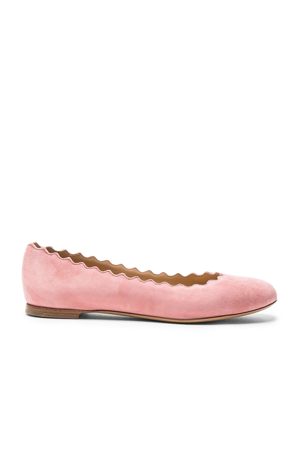 Image 1 of Chloe Suede Lauren Flats in Pink Grey
