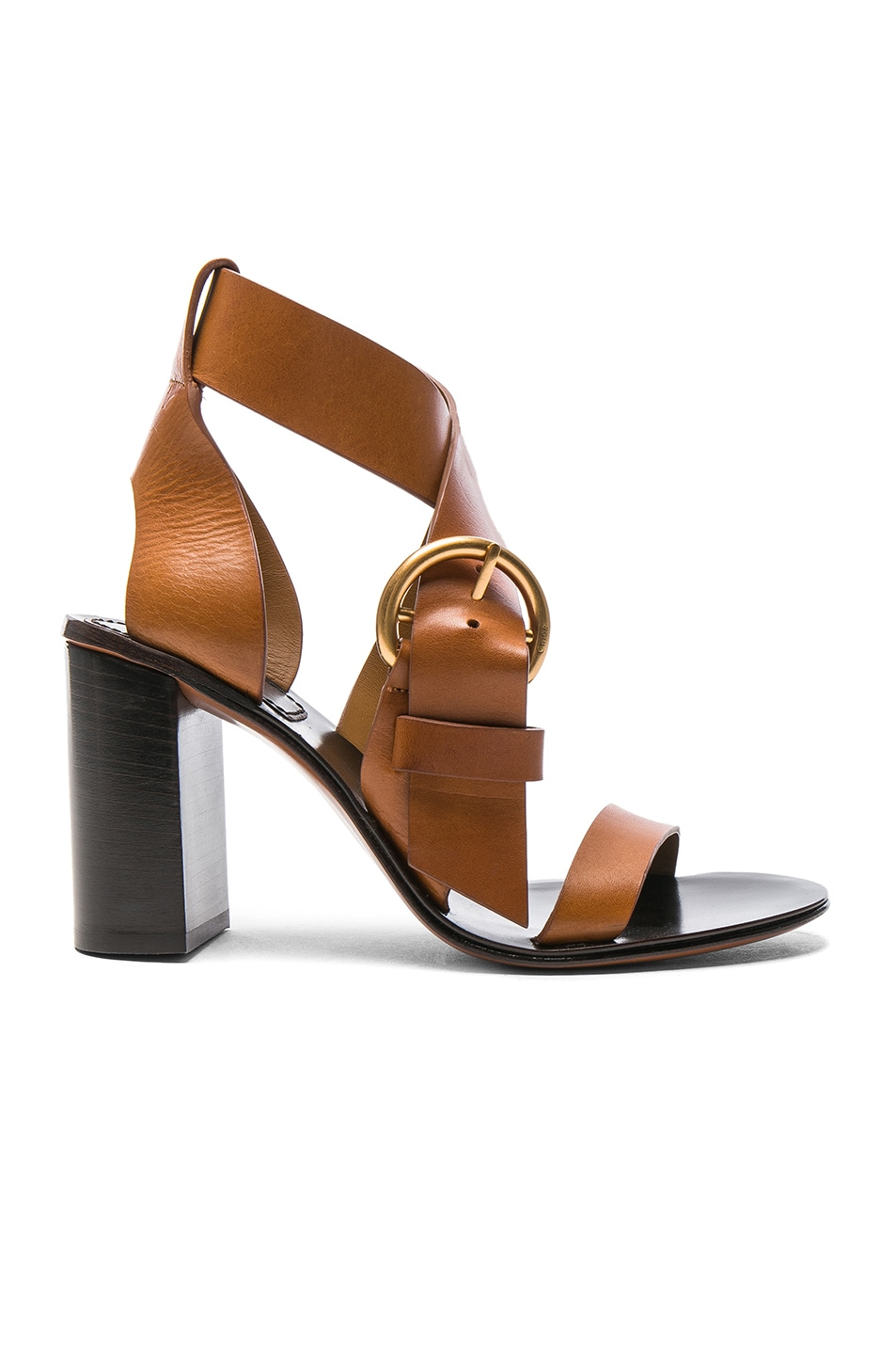 Image 1 of Chloe Leather Nils Sandals in Praline