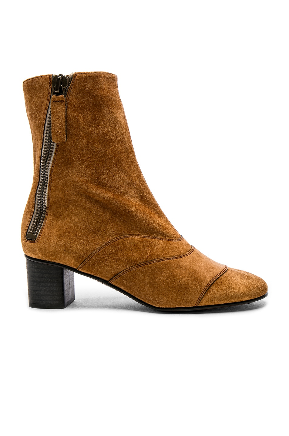 Image 1 of Chloe Suede Lexie Low Boots in Natural Brown