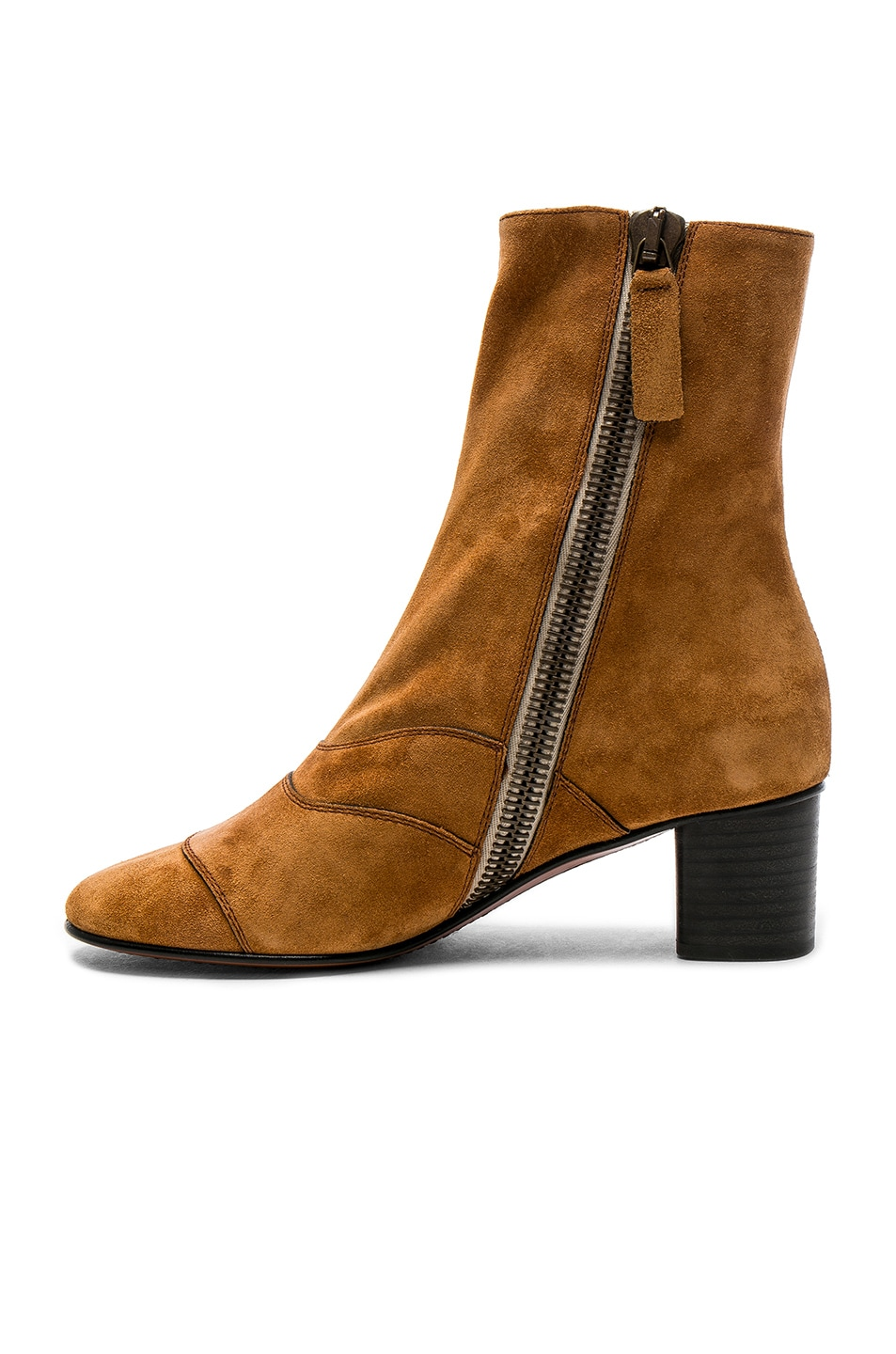 chlo 201 suede lexie low boots brown modesens