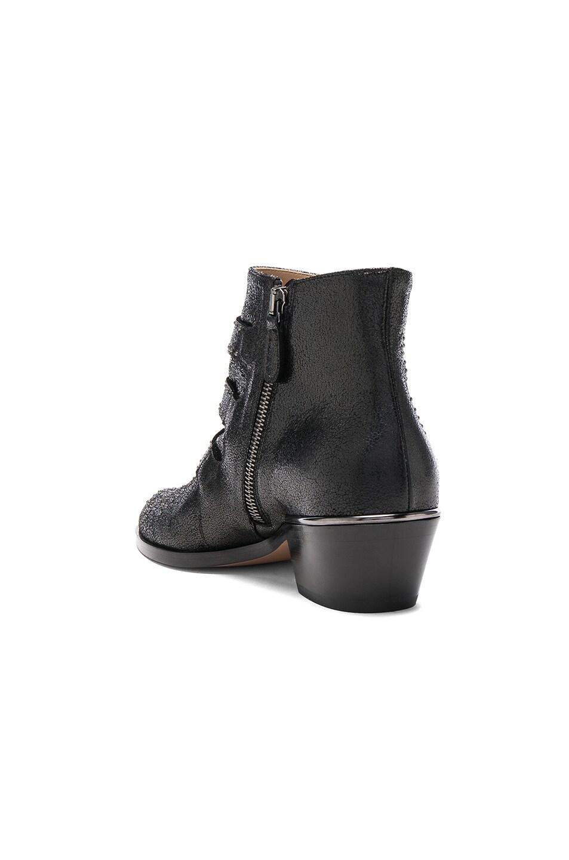 63b14666 Chloe Susanna Metallic Leather Studded Booties in Black | FWRD