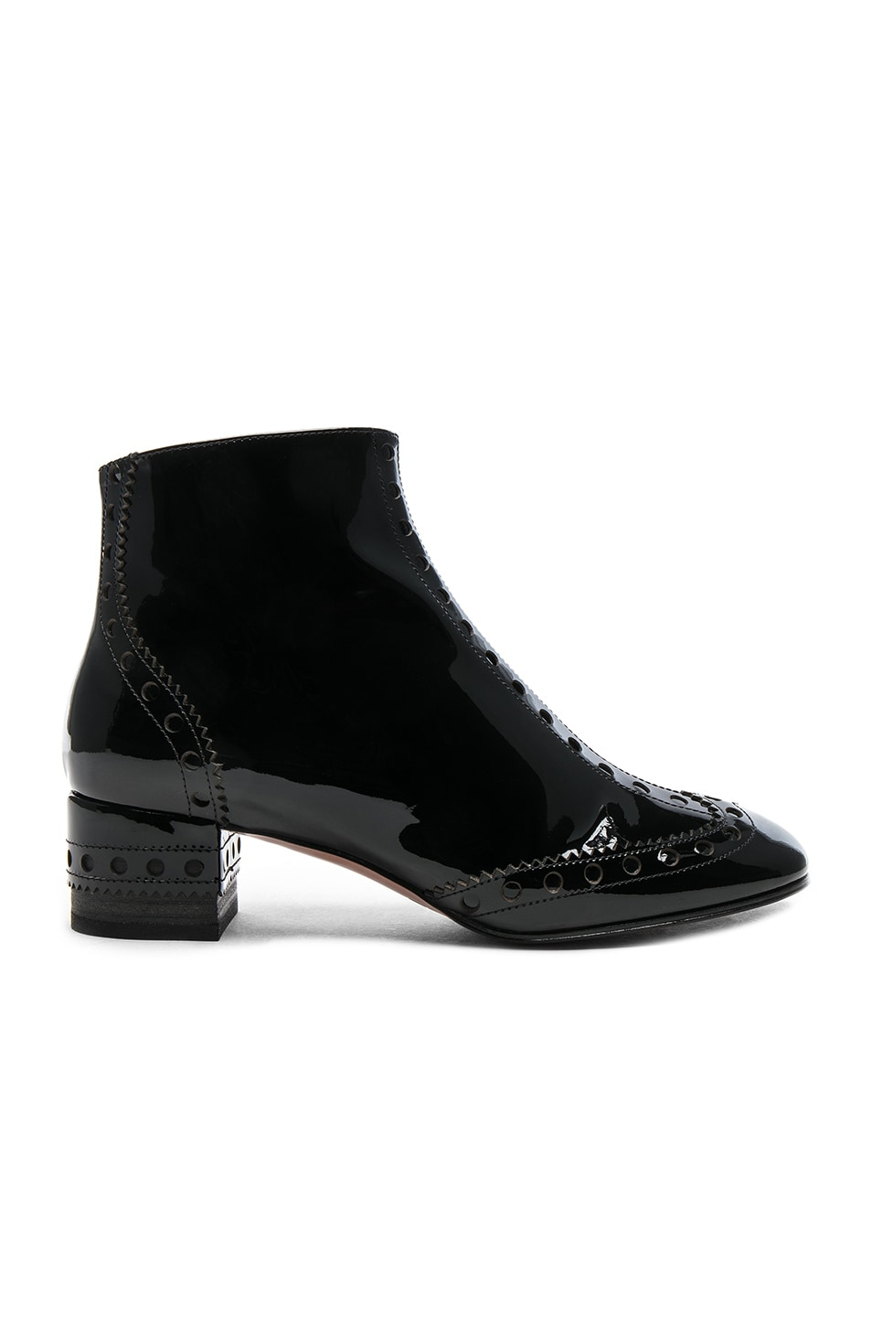 be6f85a8d0a9 Image 1 of Chloe Perry Patent Leather Ankle Boots in Black