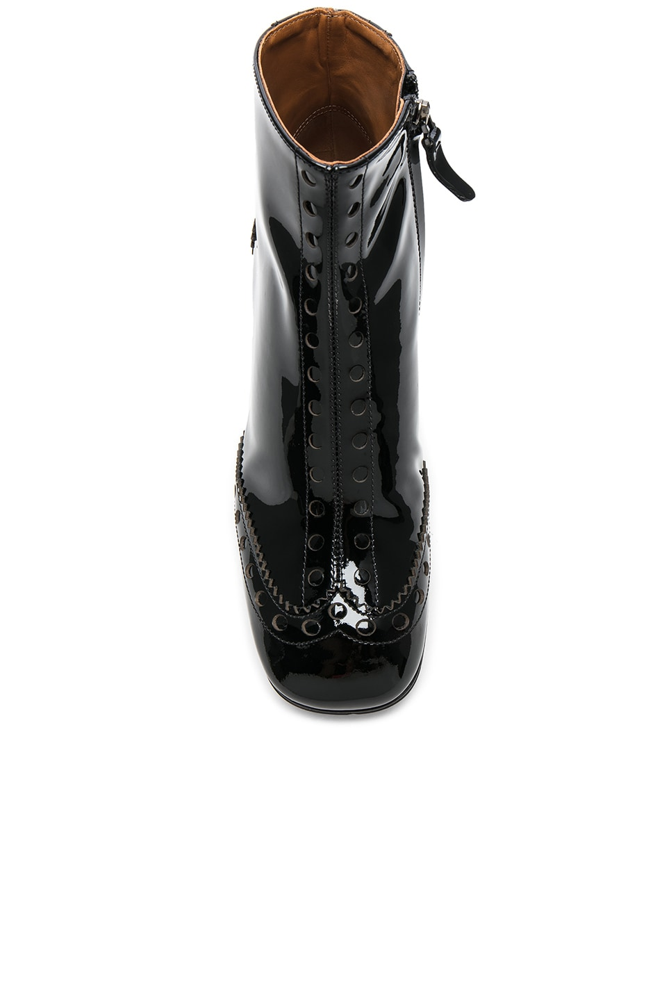 5853dc202fdd Image 4 of Chloe Perry Patent Leather Ankle Boots in Black