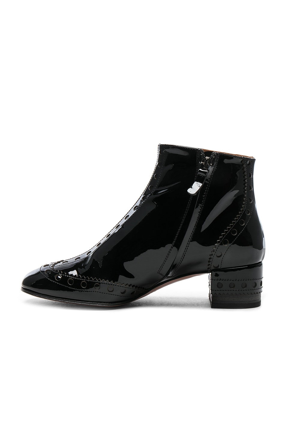 c78a4c43dbbc Image 5 of Chloe Perry Patent Leather Ankle Boots in Black