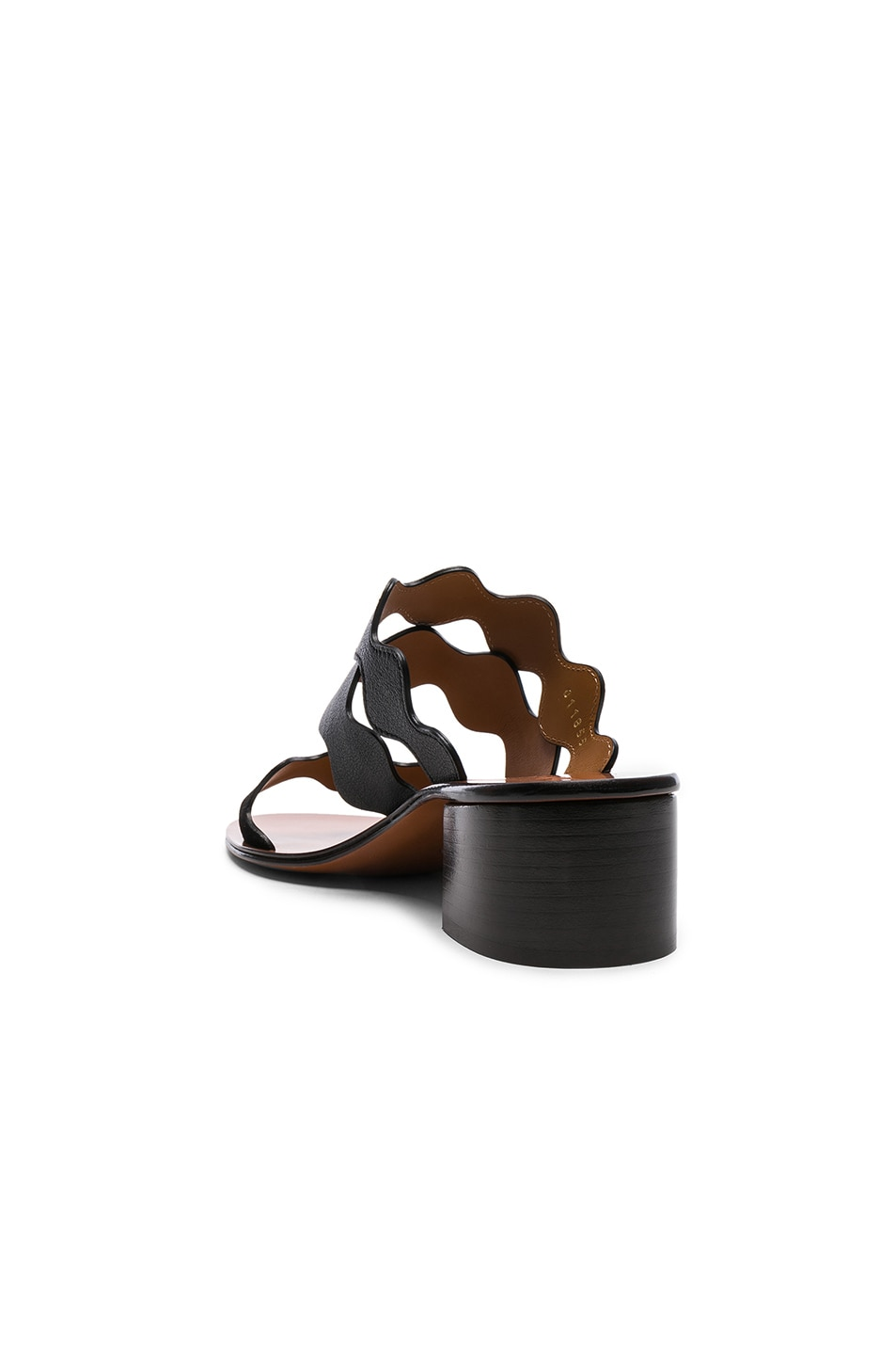 Image 3 of Chloe Lauren Leather & Suede Sandals in Black