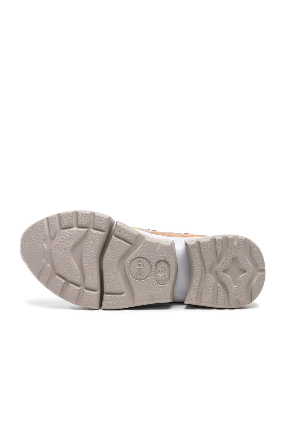 Image 6 of Chloe Sonnie Leather Velcro Strap Sneakers in Maple Pink