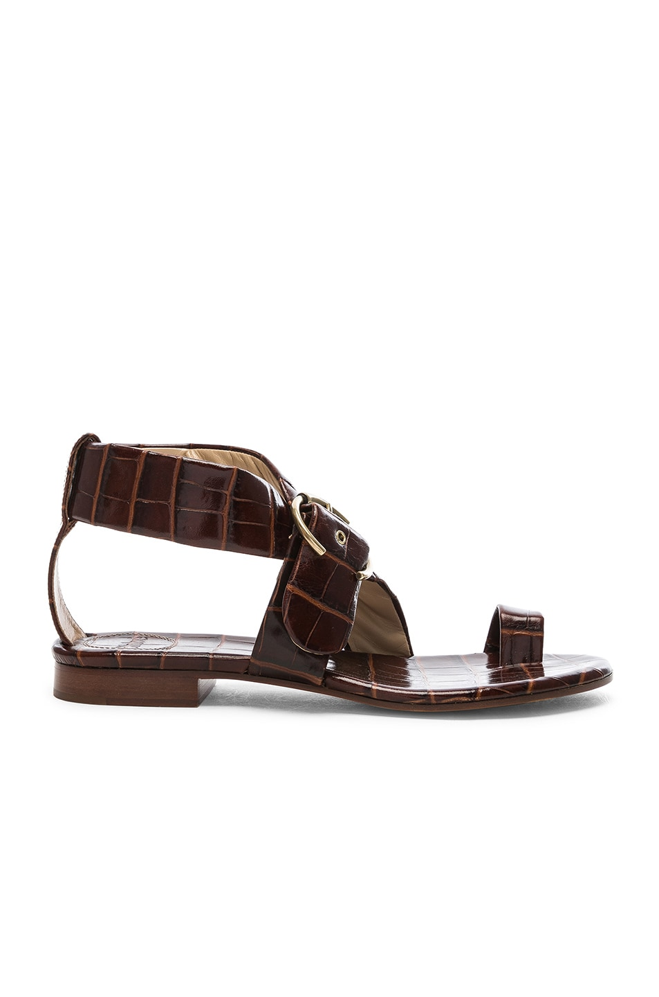 Image 1 of Chloe Two Strap Sandals in Hot Tan