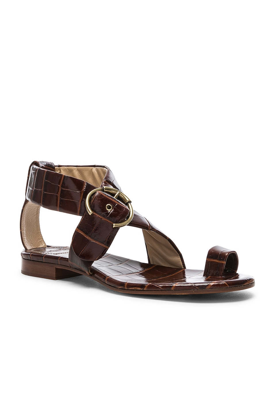 Image 2 of Chloe Two Strap Sandals in Hot Tan