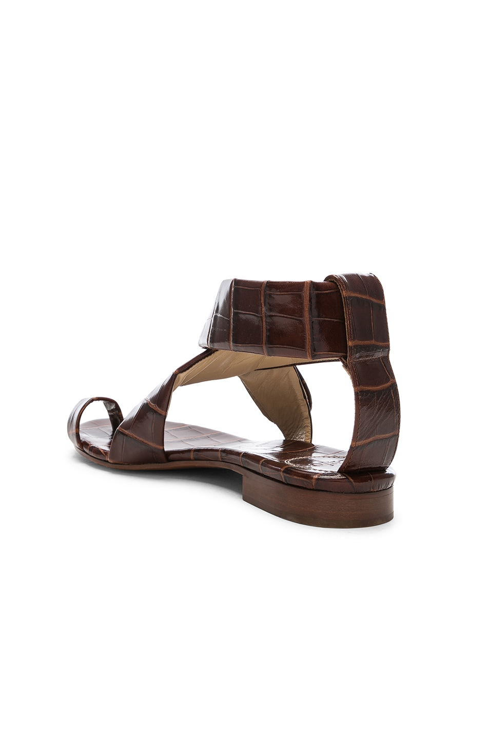 Image 3 of Chloe Two Strap Sandals in Hot Tan