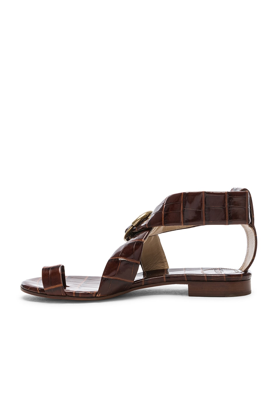 Image 5 of Chloe Two Strap Sandals in Hot Tan