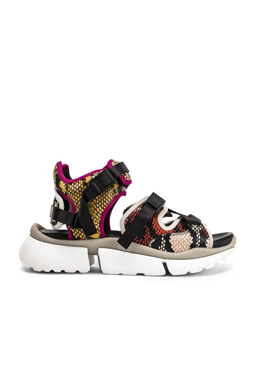 Image 1 of Chloe Platform Sandals in September Sun