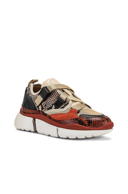 Image 2 of Chloe Platform Sneakers in Eternal Grey
