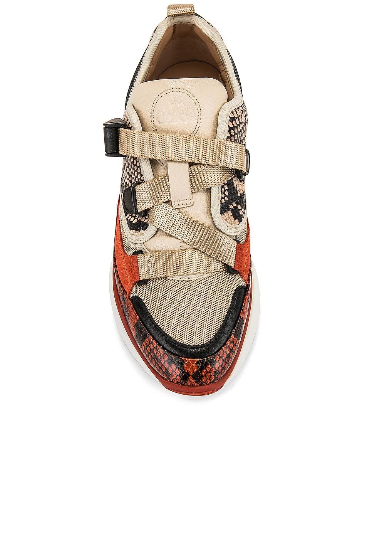 Image 4 of Chloe Platform Sneakers in Eternal Grey
