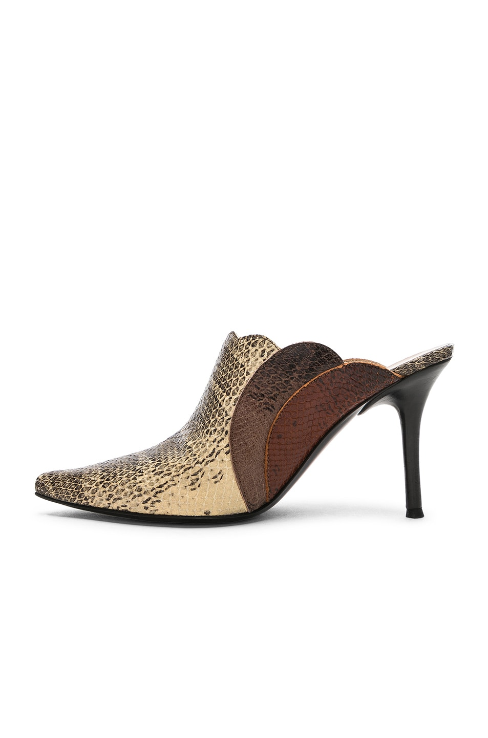 Image 5 of Chloe Pointed Mules in Cloudy Yellow