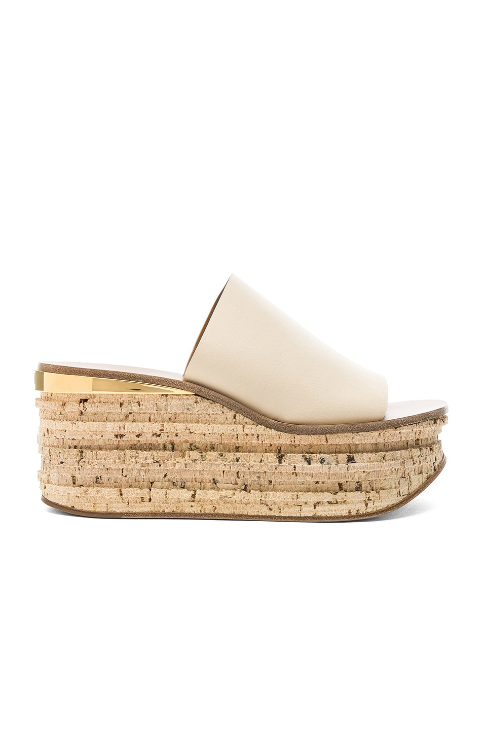 Image 1 of Chloe Platform Sandals in Mild Beige
